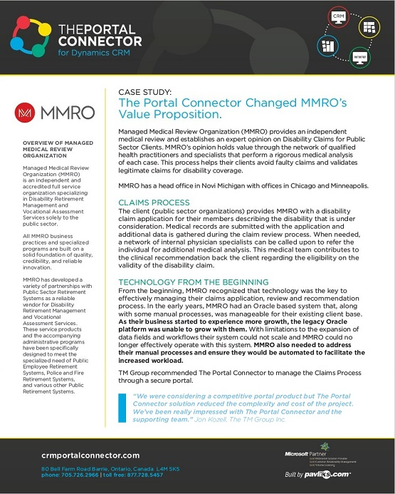 MMRO Case Study by The Portal Connector