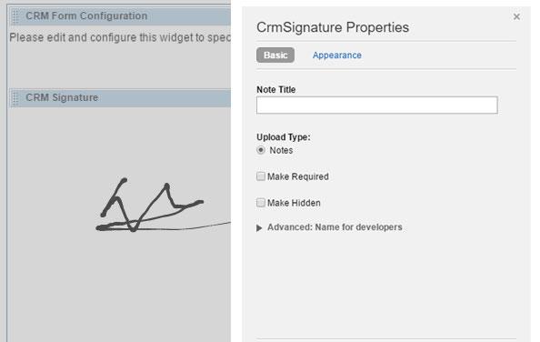 Signature Widget