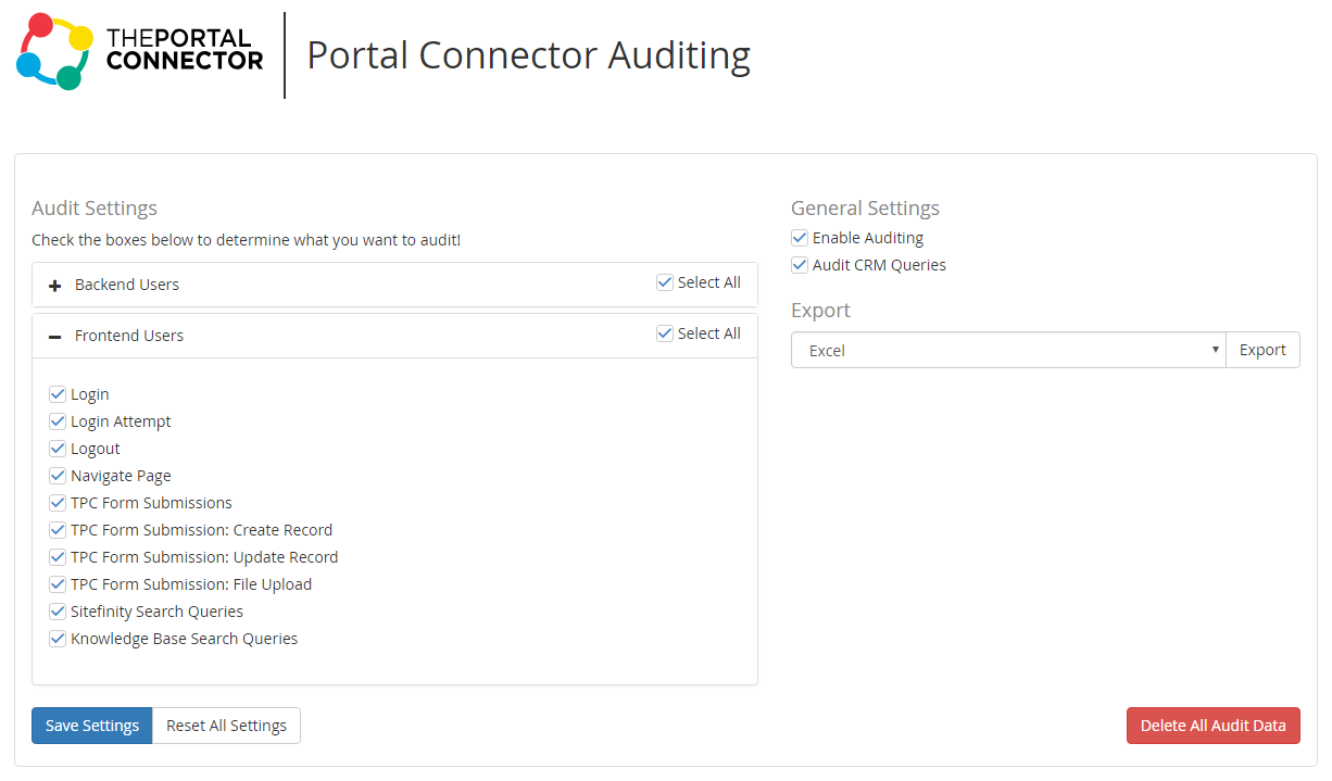 Auditing Configuration