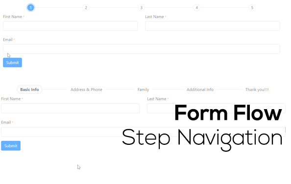 Form-Flow-Step Nav