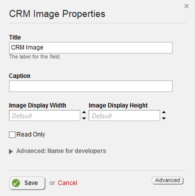 CRM Image Properties