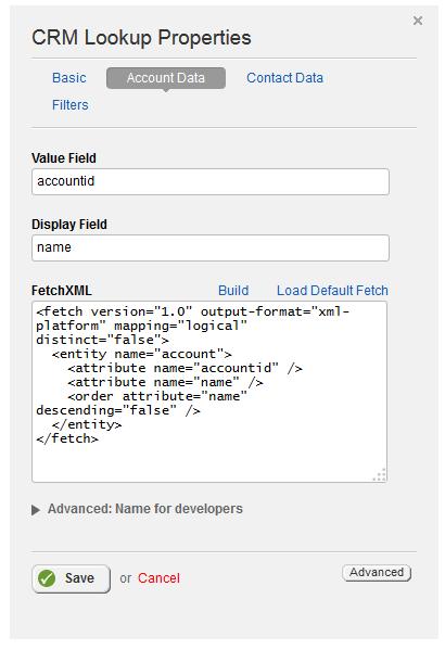 Fetch XML Default Fetch