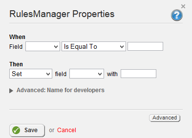 RulesManager Properties