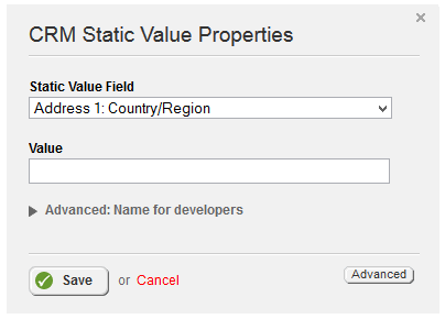 Static Value Properties