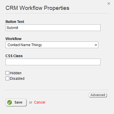 CRM WorkFlow Properties