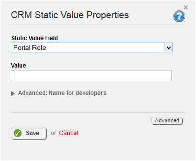 Portal Role Static Value
