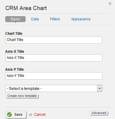 CRM Area Chart Basic Properties