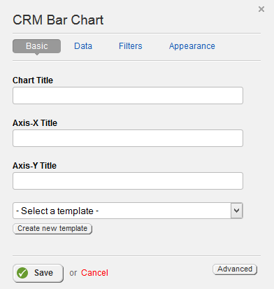 CRM Bar Chart Basic Properties
