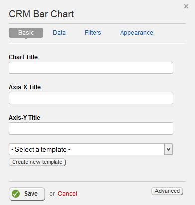 CRM Bar Chart Basic Properties