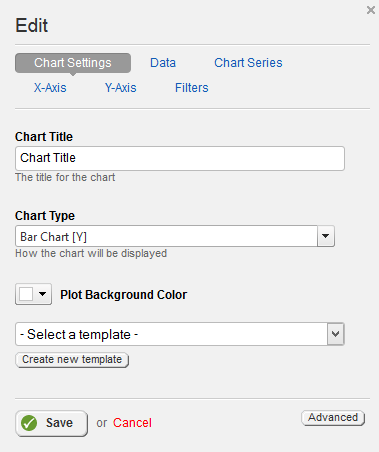 Chart View Settings