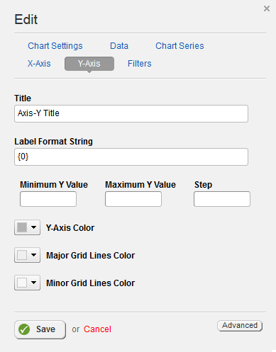 Chart View Y Axis Settings