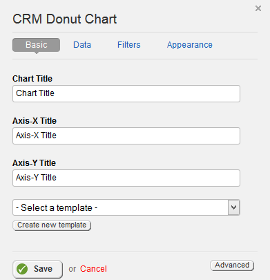 CRM Donut Chart Basic Properties