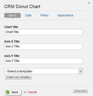 CRM Donut Chart Basic Properties