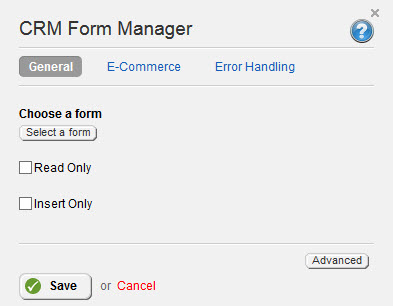 CRM Form Manager Properties 3.2