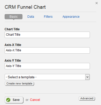CRM Funnel Chart Basic Properties