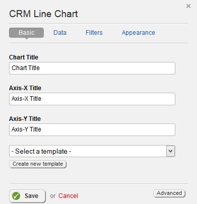 CRM Line Chart Basic Properties
