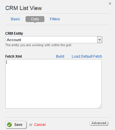 CRM List View Data Properties
