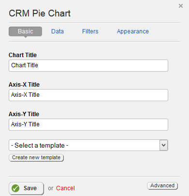 CRM Pie Chart Basic Properties