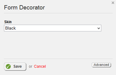 Form Decorator Settings