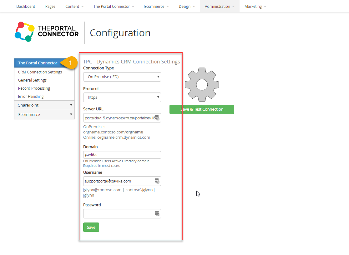 Crm-connection-settings
