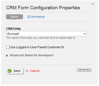 Form Configuration Basic Properties