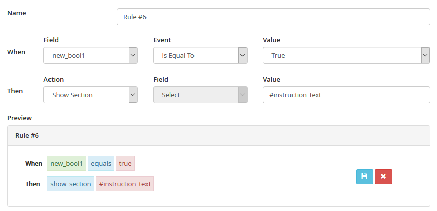 MVC Rules Manager - Show Section